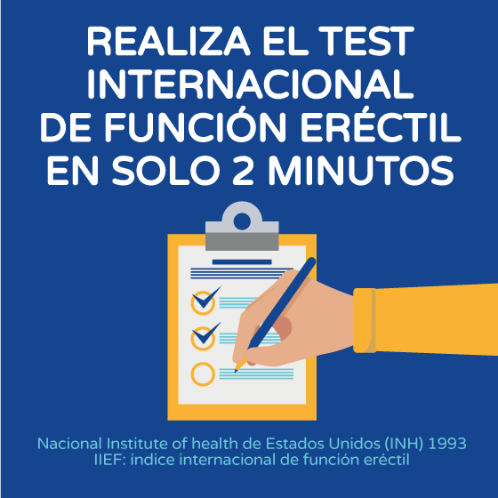Realiza el test internacional de función eréctil gráfico Boston Medical Group España